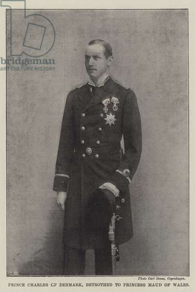 Prince Charles of Denmark, betrothed to Princess Maud of Wales (b/w photo)