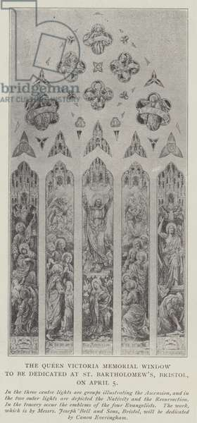 The Queen Victoria Memorial Window to be dedicated at St Bartholomew's, Bristol, on 5 April (litho)