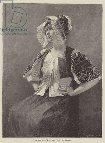 A Slovak Village Maiden, Austrian Empire (engraving)