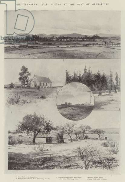 The Transvaal War, Scenes at the Seat of Operations (litho)