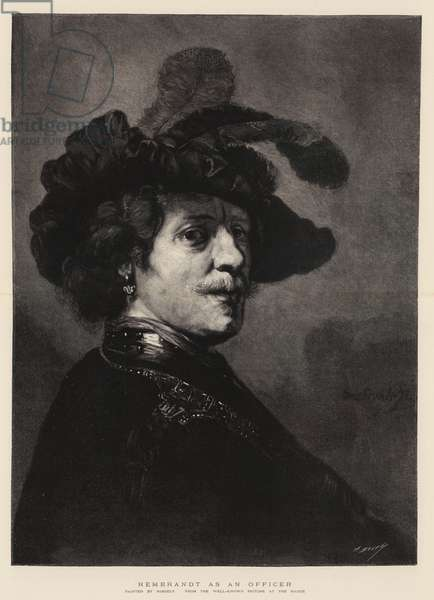 Rembrandt as an Officer (engraving)