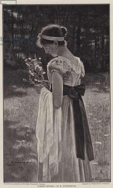 Summer Flowers (engraving)