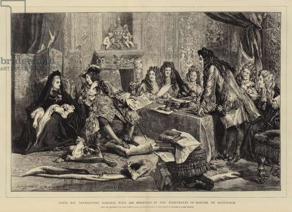 Louis XIV, Transacting Business with his Ministers in the Apartments of Madame de Maintenon (engraving)