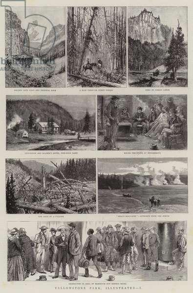 Yellowstone Park, Illustrated, I (engraving)