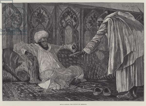Mulai Hassan, the Sultan of Morocco (engraving)