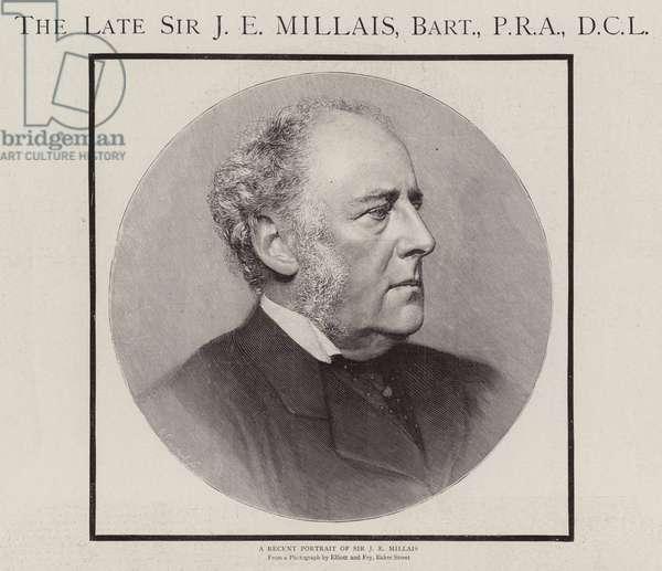 The Late Sir J E Millais, Baronet, PRA, DCL (engraving)