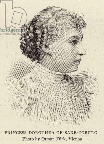 Princess Dorothea of Saxe-Coburg (engraving)