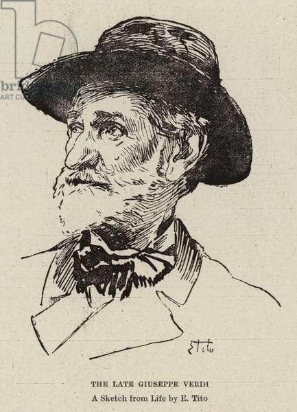 The Late Giuseppe Verdi (engraving)