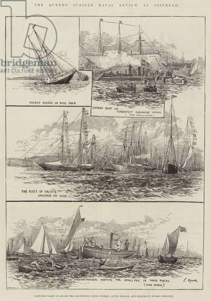 The Queen's Jubilee Naval Review at Spithead (engraving)