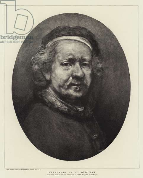 Rembrandt as an Old Man (engraving)