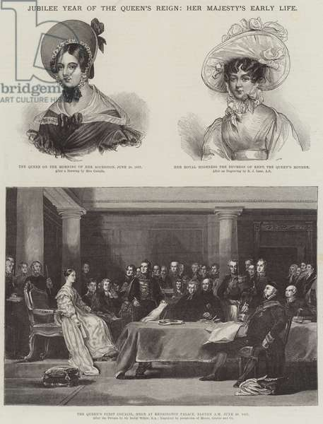 Jubilee Year of the Queen's Reign, Her Majesty's Early Life (engraving)
