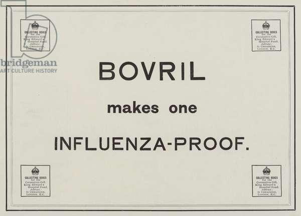 Advertisement, Bovril (engraving)