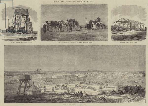 The Canal across the Isthmus of Suez (engraving)