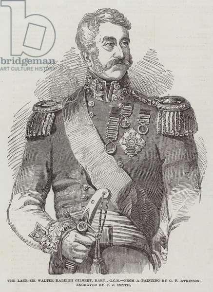 The late Sir Walter Raleigh Gilbert, Baronet, GCB (engraving)