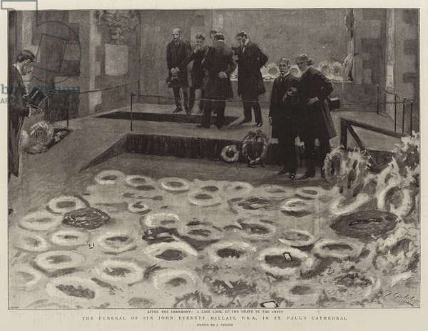 The Funeral of Sir John Everett Millais, PRA, at St Paul's Cathedral (litho)