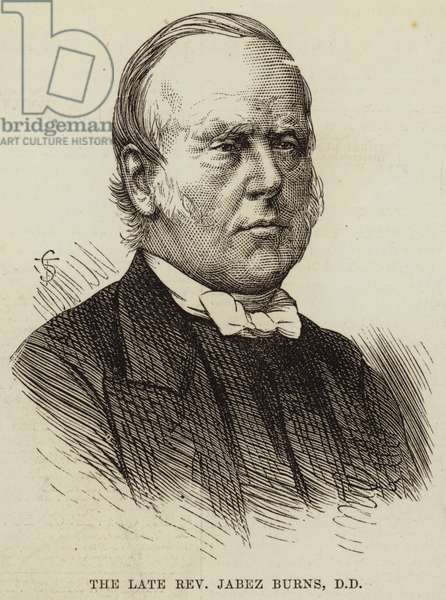 The Late Reverend Jabez Burns, DD (engraving)