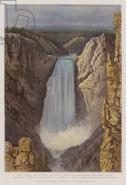 Yellowstone Park Illustrated, II (colour litho)