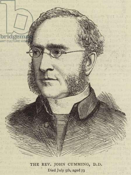 The Reverend John Cumming, DD (engraving)