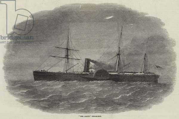 """The Arctic"" Steam-Ship (engraving)"