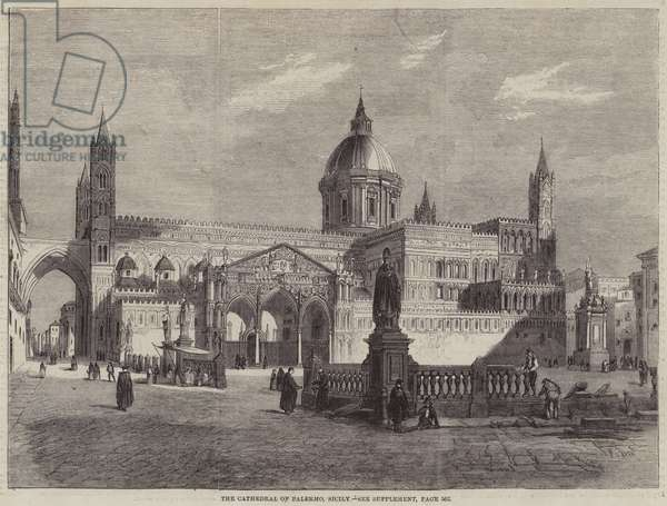 The Cathedral of Palermo, Sicily (engraving)