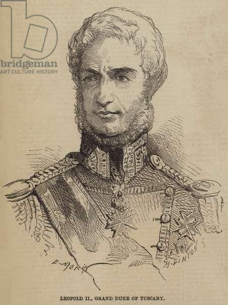 Leopold II, Grand Duke of Tuscany (engraving)
