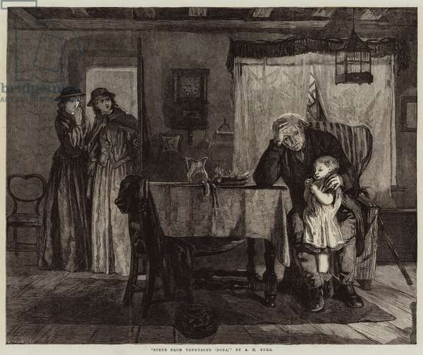 Scene from Tennyson's 'Dora' (engraving)