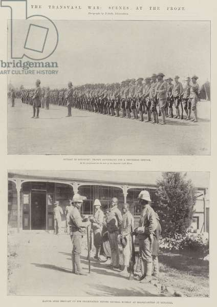 The Transvaal War, Scenes at the Front (b/w photo)