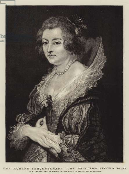 The Rubens Tercentenary, the Painter's Second Wife (engraving)