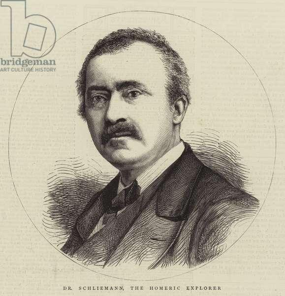 Dr Schliemann, the Homeric Explorer (engraving)