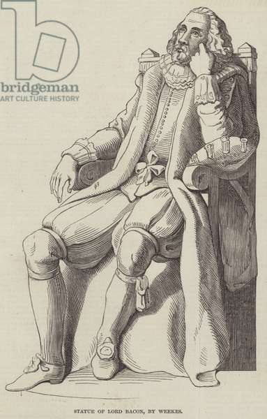 Statue of Lord Bacon, by Weekes (engraving)