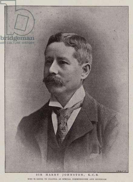 Sir Harry Johnston, KCB (b/w photo)