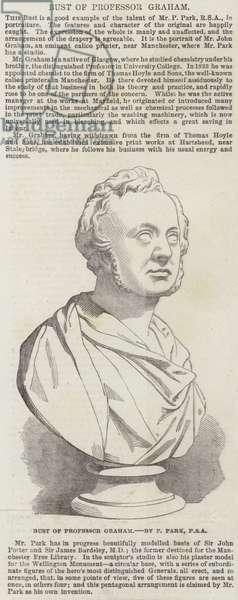 Bust of Professor Graham, by P Park, RSA (engraving)