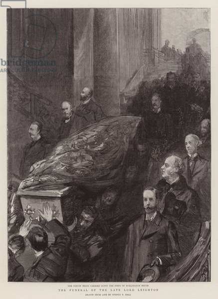 The Funeral of the Late Lord Leighton (engraving)