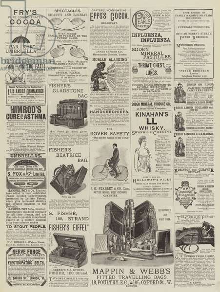 Page of Advertisements (engraving)