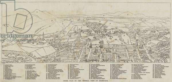 Index Plan of the General View of Edinburgh (engraving)