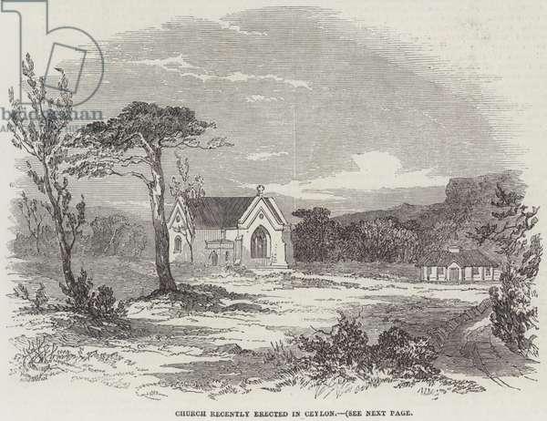 Church recently erected in Ceylon (engraving)