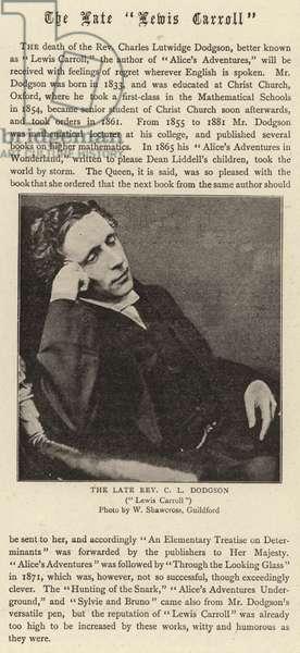 "The Late ""Lewis Carroll"" (b/w photo)"
