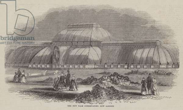 The New Palm Conservatory, Kew Gardens (engraving)