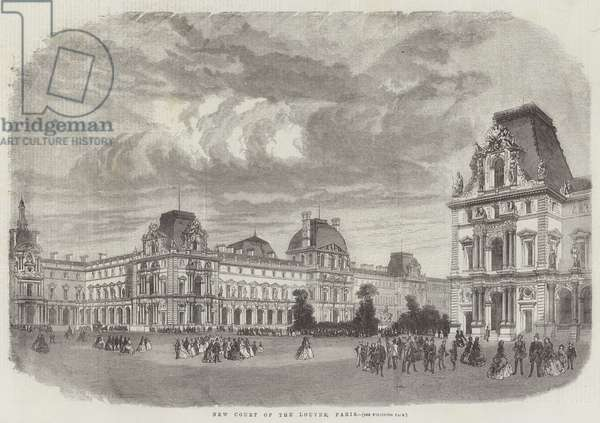 New Court of the Louvre, Paris (engraving)
