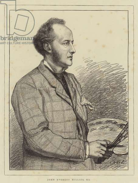 John Everett Millais, RA (litho)