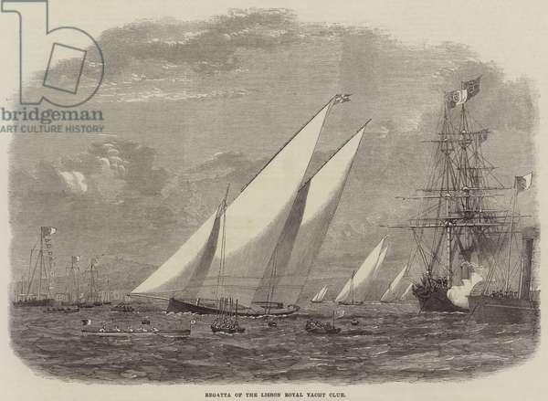 Regatta of the Lisbon Royal Yacht Club (engraving)