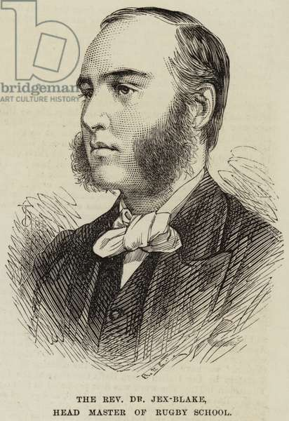 The Reverend Dr Jex-Blake, Head Master of Rugby School (engraving)