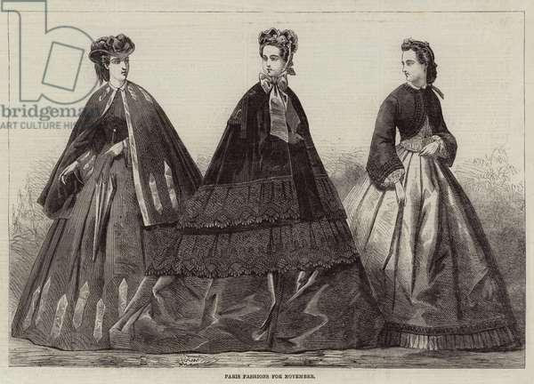 Paris Fashions for November (engraving)