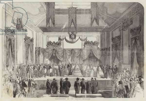 Inauguration of the Louvre (engraving)
