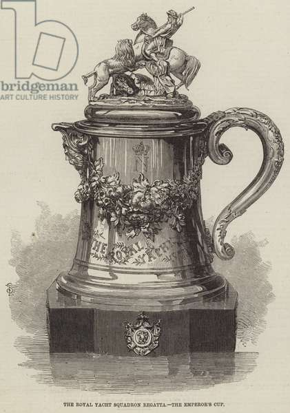 The Royal Yacht Squadron Regatta, the Emperor's Cup (engraving)