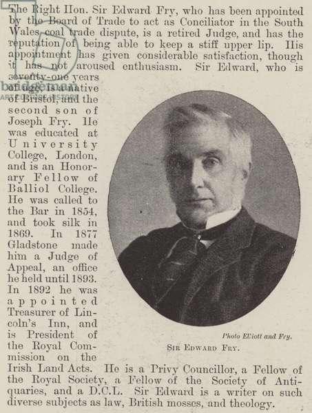 Sir Edward Fry (b/w photo)