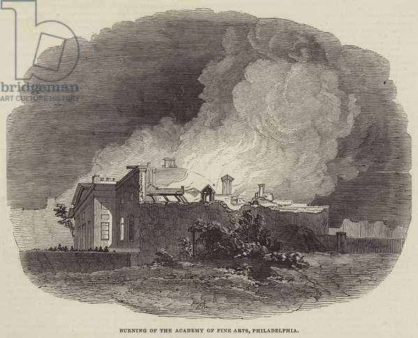 Burning of the Academy of Fine Arts, Philadelphia (engraving)
