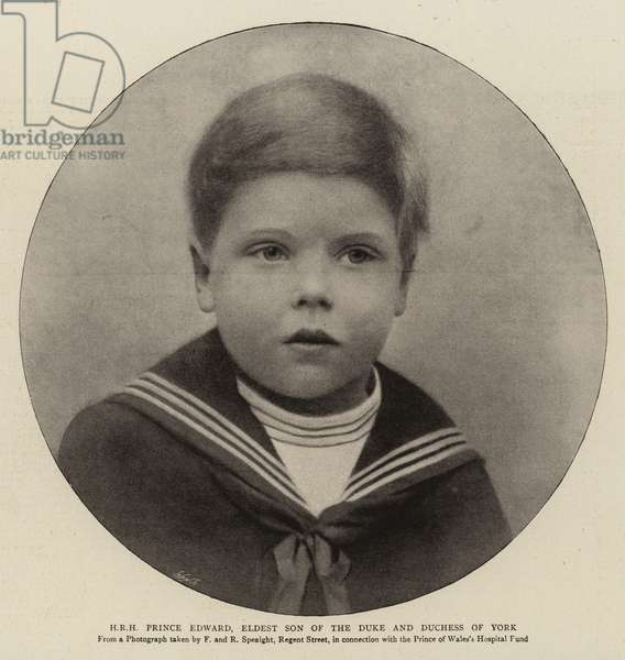 H R H Prince Edward, eldest Son of the Duke and Duchess of York (b/w photo)