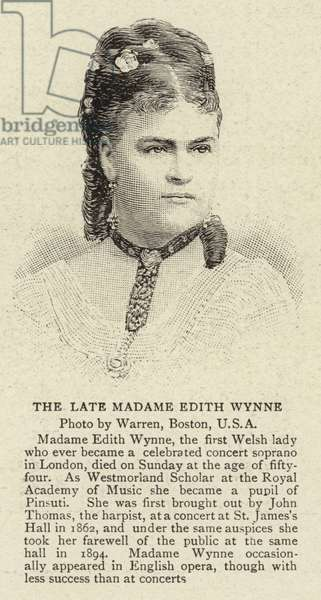 The Late Madame Edith Wynne (engraving)