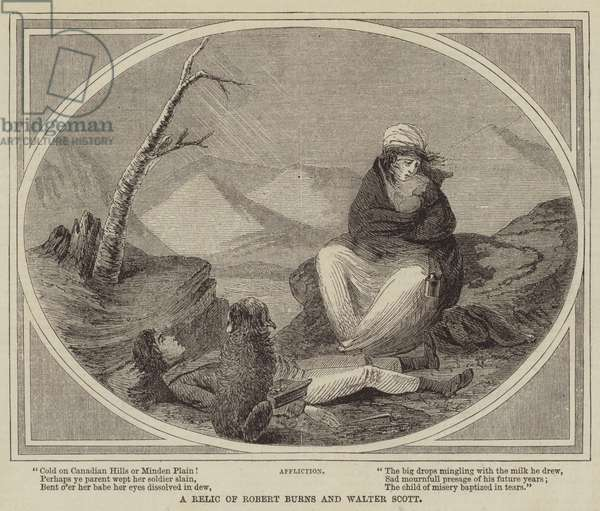 A Relic of Robert Burns and Walter Scott (engraving)